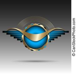 Luxurious market label/emblem/stic - Original design of a...