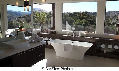 luxurious modern bathroom