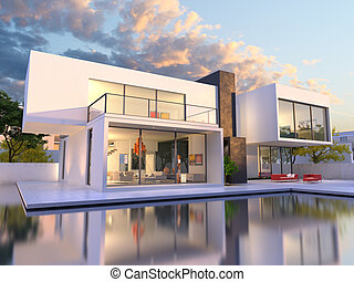 Luxurious original mansion - 3D rendering of Impressive...