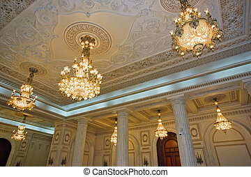 luxurious palace ceiling