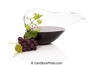 Luxurious red wine still life.