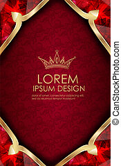 luxurious royal background.