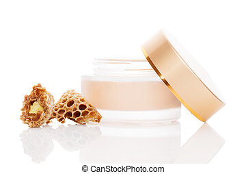 Luxurious royal jelly cosmetics. - Luxurious beeswax...