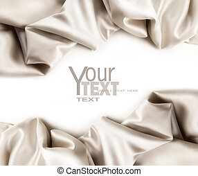 Luxurious satin fabric on white background