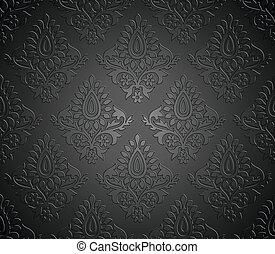Luxurious seamless vector wallpaper