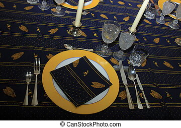 Luxurious table setting
