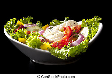 Luxurious vegetable salad. - Luxurious fresh colorful...