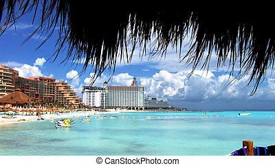 Vacation: Tourist Resort, Caribbean Sea, Cancun, Mexico