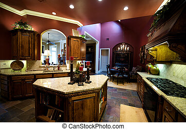 luxuriously, decorato, cucina