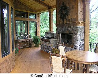 Luxury deck room designer model home interior