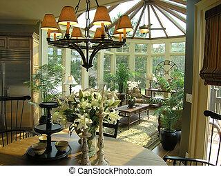 Luxury 31 sun room - Luxury sun room designer model home...