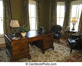 Luxury 5 - Home Office 1 - Luxury House with regal elegant ...
