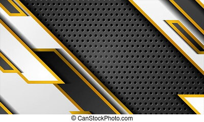 Luxury abstract tech geometric motion background