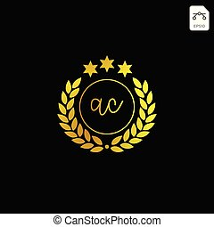 luxury Ac initial logo or symbol business company vector...