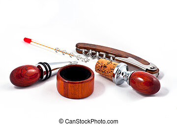 Luxury accessories for wine from mahogany