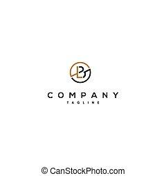 luxury and elegant design initial letter LB 1