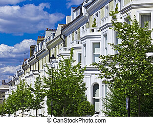 Luxury Apartment Buildings - Row of houses in London\'s...