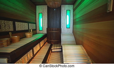 Luxury Apartment Interior, Sauna. - Luxury Apartment...