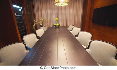 Luxury Apartment Interior Tracking Shot.