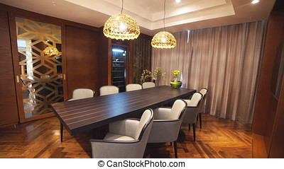 Luxury Apartment Interior Tracking Shot. - Luxury Apartment...