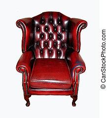 Isolated luxurious leather armchair