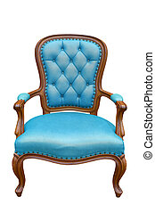 luxury armchair isolated on the white background