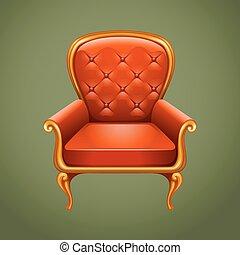 Luxury armchair on gray