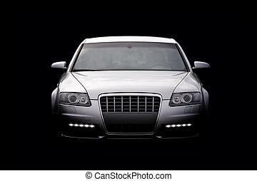 luxury autó, elszigetelt