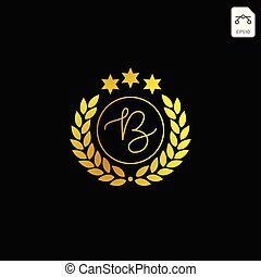 luxury b initial logo or symbol business company vector icon isolated