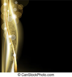 Luxury Background Blackand Gold, Vector Illustration