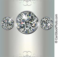 Luxury background with diamonds, vector.