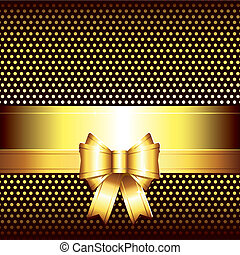 luxury background with golden bow