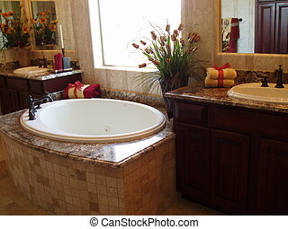 Luxury Bathroom - Luxury bathroom in a brand new home.