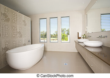 Luxury bathroom with twin sinks