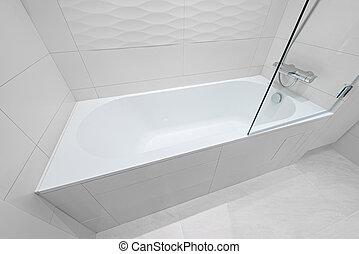 Luxury bathtub in the hotel room.