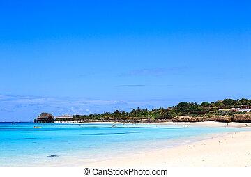 Luxury beach resort at a tropical beach