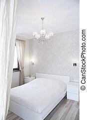 Luxury bedroom in romantic design