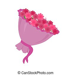 Luxury Big Bouquet with Pink Spring Flowers Vector