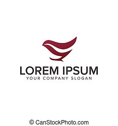 luxury bird logo design concept template