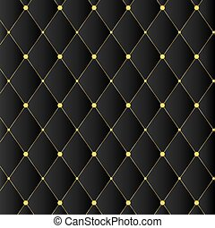 Luxury black background with golden buttons