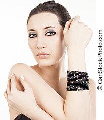 Luxury black bracelet