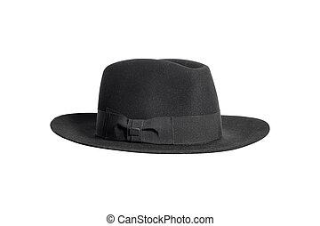 luxury black man hat isolated on white background