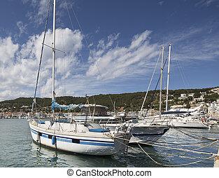 luxury boat in estartit port