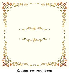 Luxury border frame with detailed ornate corners
