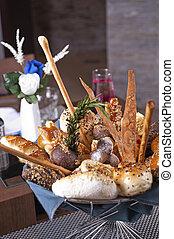 Luxury bread basket in a restaurant - Luxury bread basket...