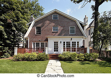 Luxury brick home