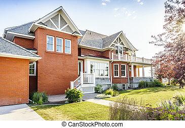 Luxury brick house, Canada