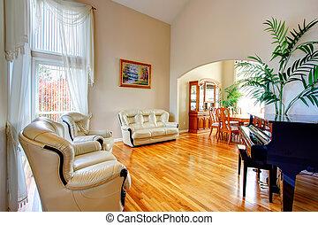 Luxury bright living room