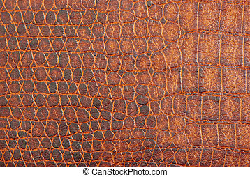 texture  - luxury brown crocodile texture close-up