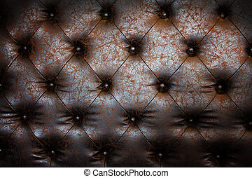 Luxury brown leather close-up background with great detail for background, check my port for a seamless version